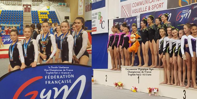 GAF - Carcassonne Olympique Gym et la Ducale Uzetienne sur le podium national Trophée Fédéral GAF