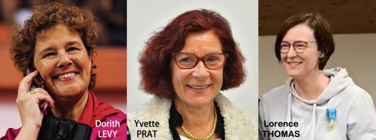 Des femmes en Or : Yvette PRAT, Dorith LEVY & Lorence THOMAS Médaillées Jeunesse et Sports