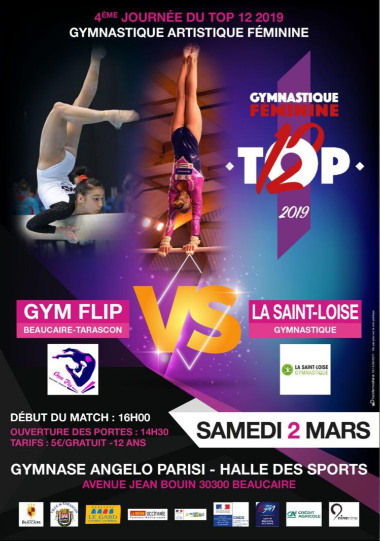 TOP 12 GAF - GYM FLIP BEAUCAIRE / ST LOISE GYM