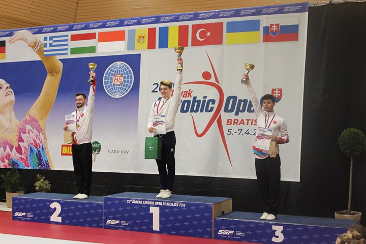 L'ASEAT médaillé à l'Open Aérobic de Slovaquie