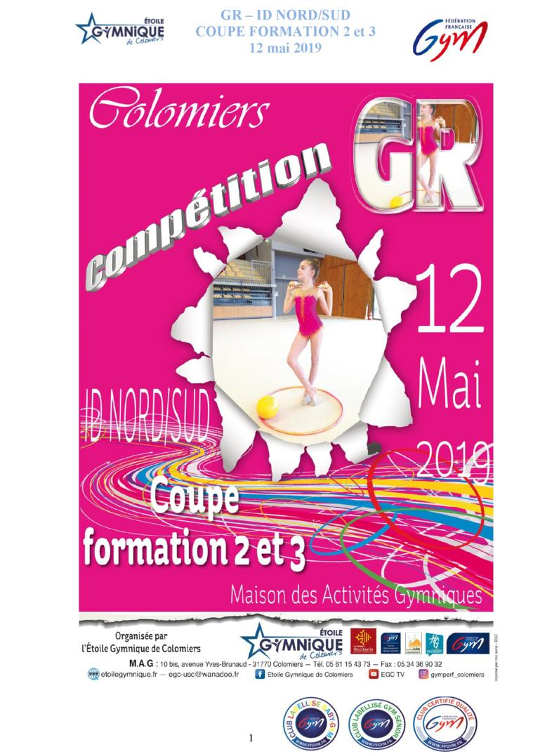 GR - COUPE FORMATION 3 ET 4 LE 12 MAI 2019 A COLOMIERS