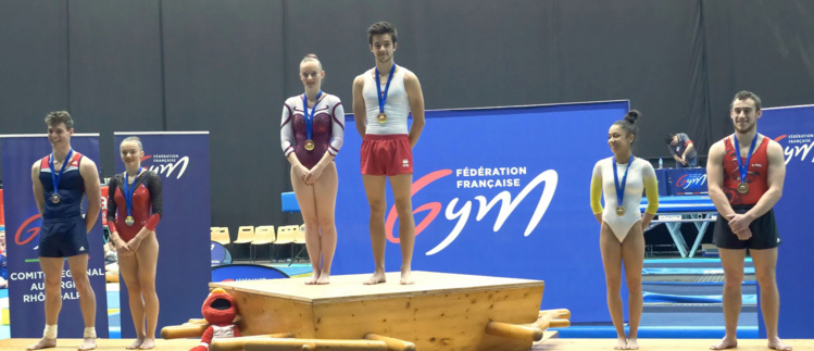 Théo Fournex (Union Gym) Champion de France Elite Tumbling