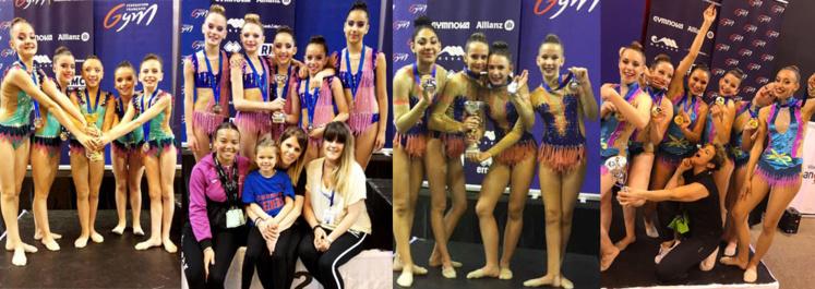 GR- 4 médailles aux Championnats de France Ensembles fédéraux et Individuelles Avenir 2019