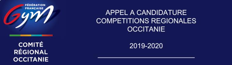 Appel à candidature - Compétitions 2019 - 2020