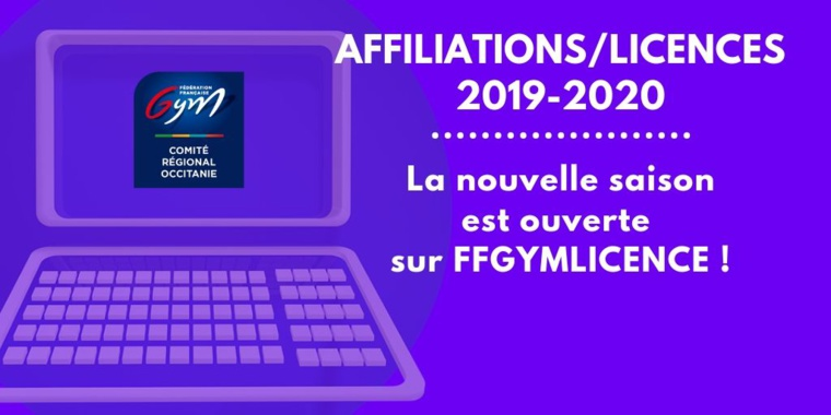 AFFILIATIONS/LICENCES 2019-2020, c'est PARTI !