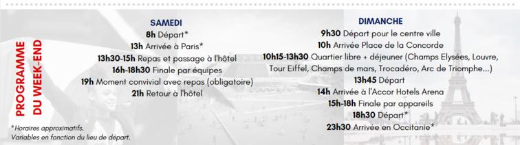 DÉPLACEMENT CHAMPIONNAT D'EUROPE GAF - Samedi 2 et dimanche 3 mai 2020