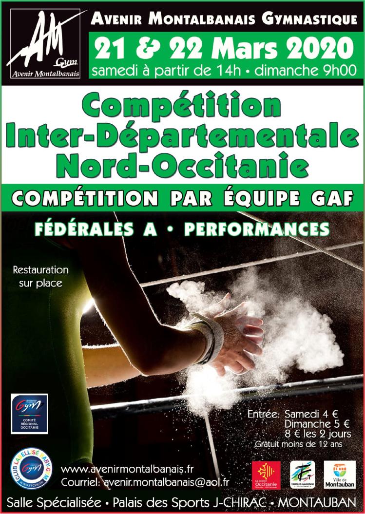 GAF - Inter-Départemental Nord Fédéral A Performance Equipe les 21 et 22 Mars 2020 à MONTAUBAN