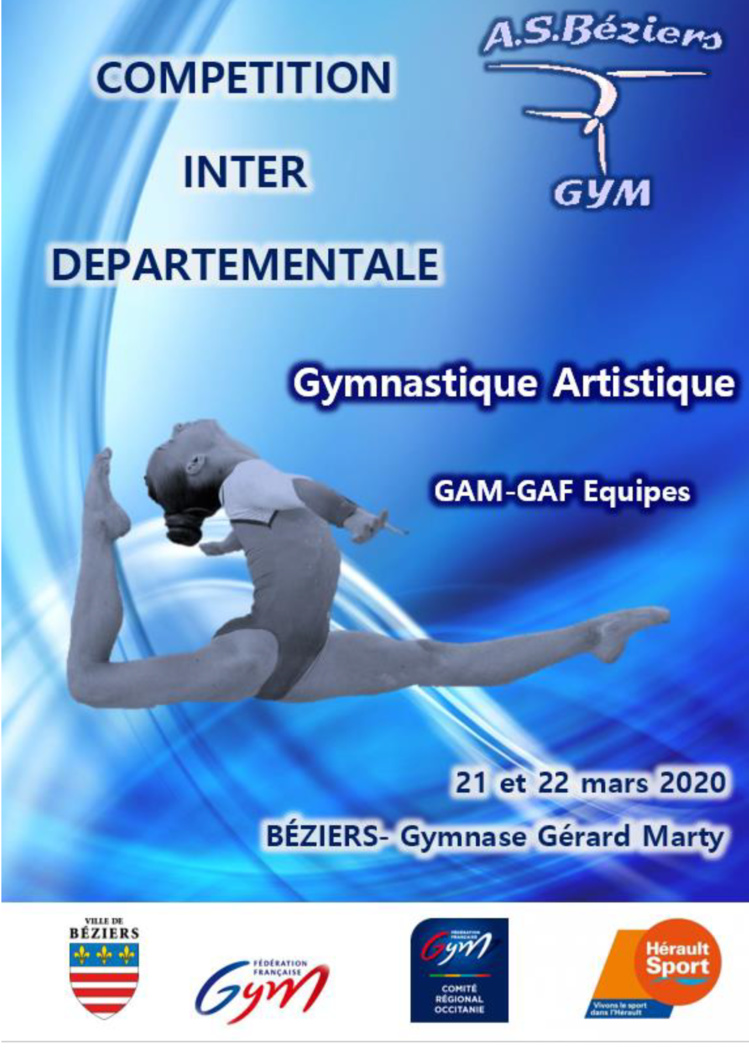 GAF - Inter-Départemental Est Fédéral A Performance Equipe les 21 et 22 Mars 2020 à Béziers