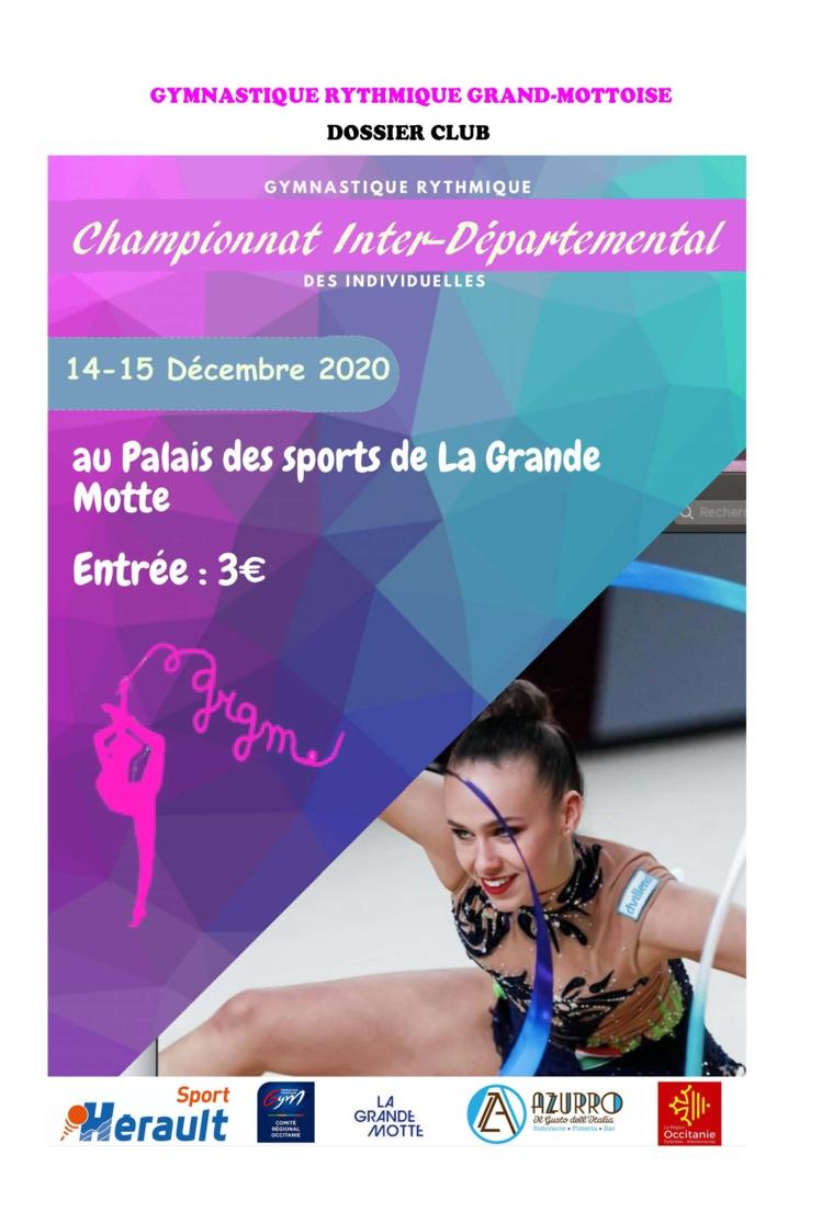 GR - Championnat Interdépartemental Est DES INDIVIDUELLES Performance Fédérale et Régionale les 14 et 15 Novembre 2020 à La Grande Motte