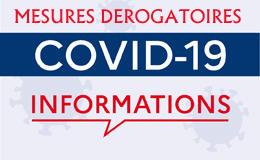 Covid - mesures dérogatoires du Ministère chargé des sports