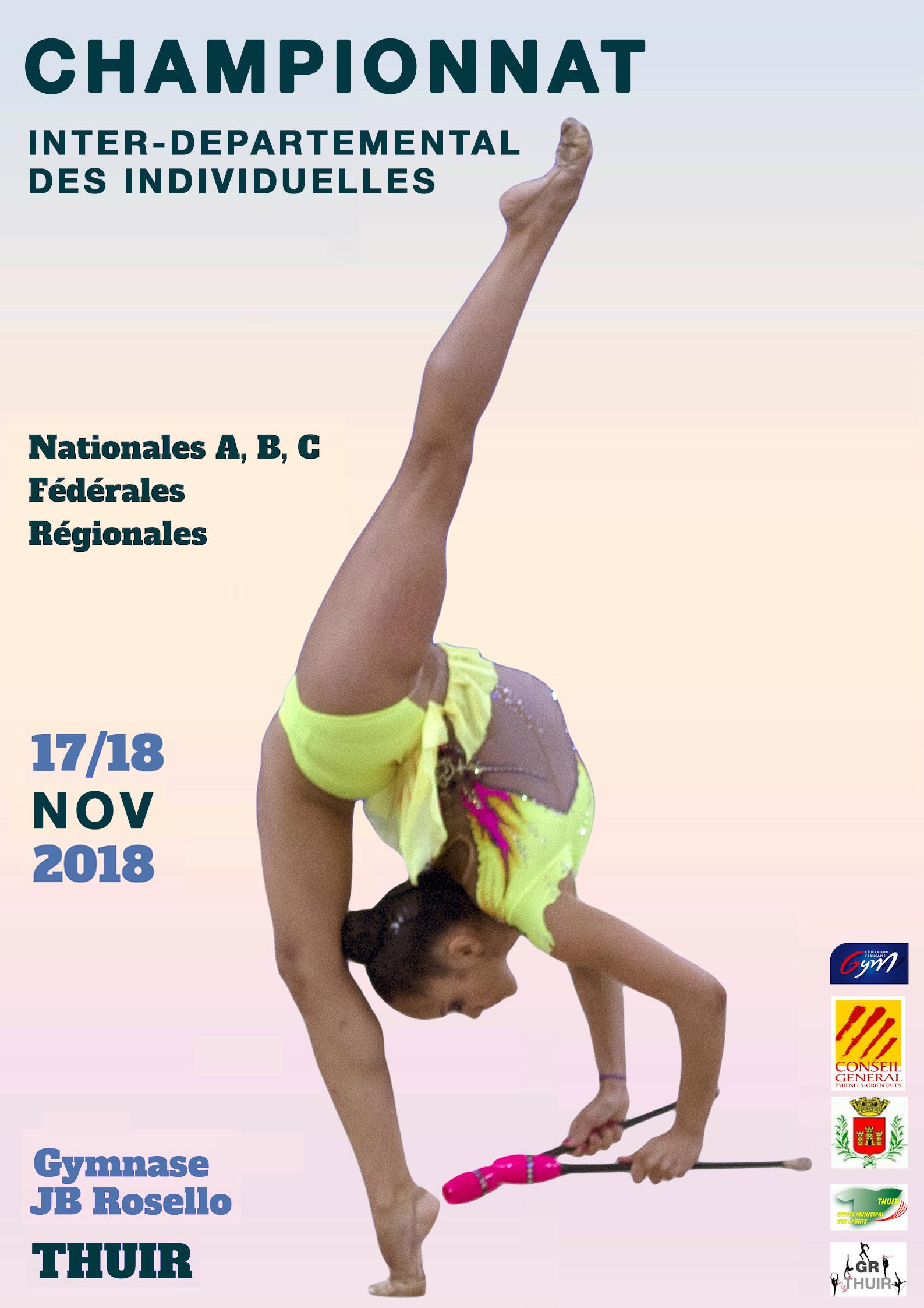 Championnat GR Inter Départemental Est 17 et 18 Novembre 2018 THUIR