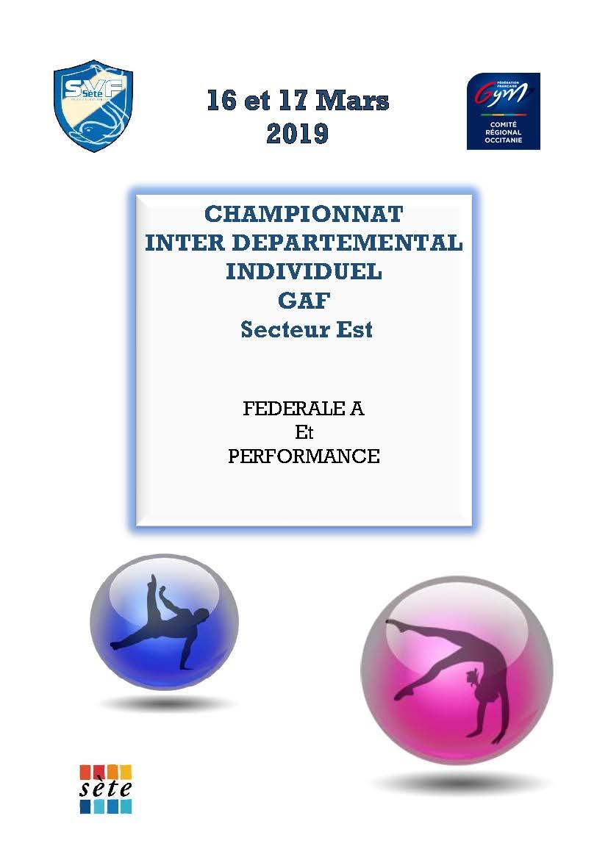 CHAMPIONNAT INTERDEPARTEMENTAL INDIVIDUEL GAF Performance et Fédéral SETE