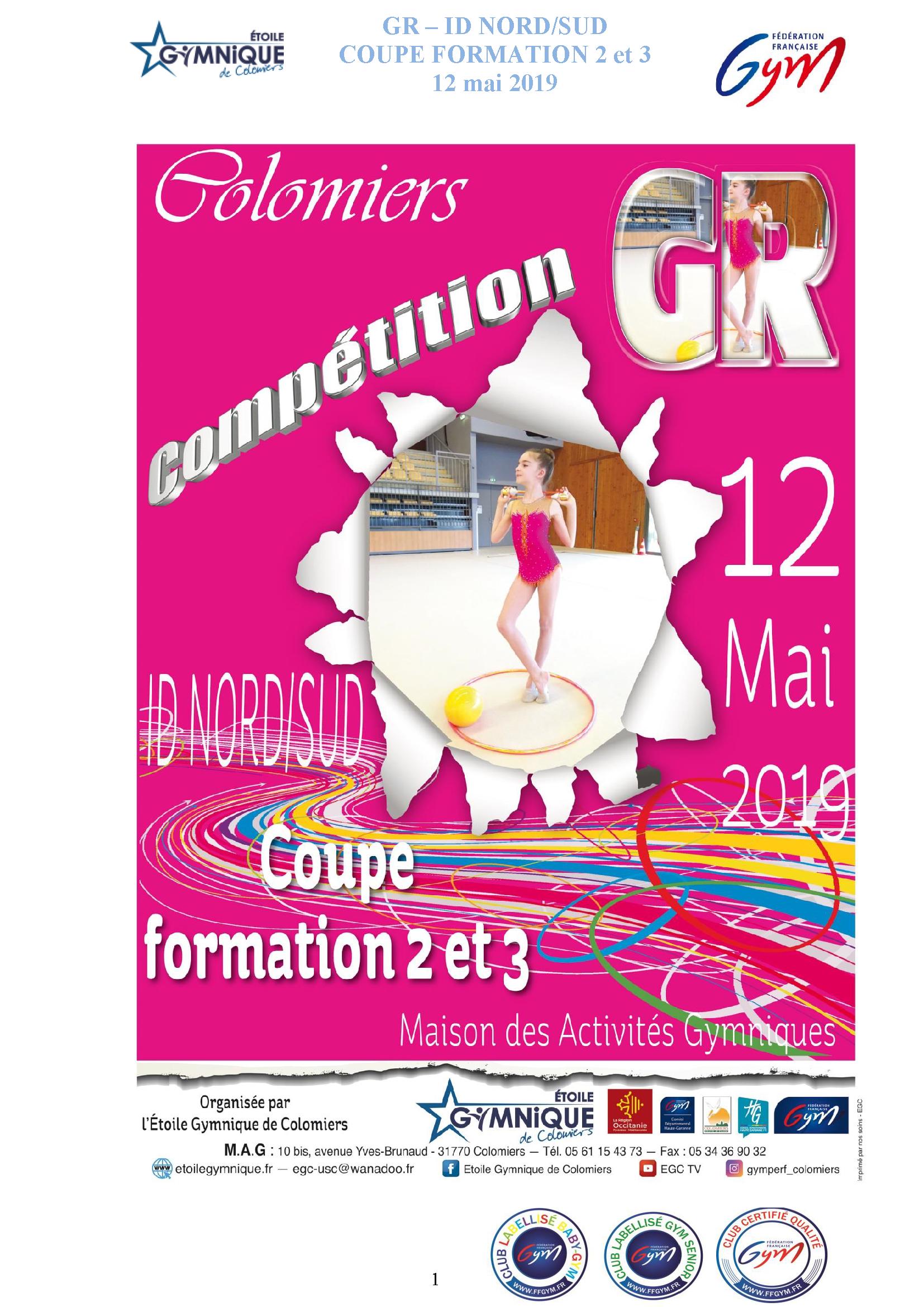 GR - CF2 et CF3 12 MAI 2019 à COLOMIERS