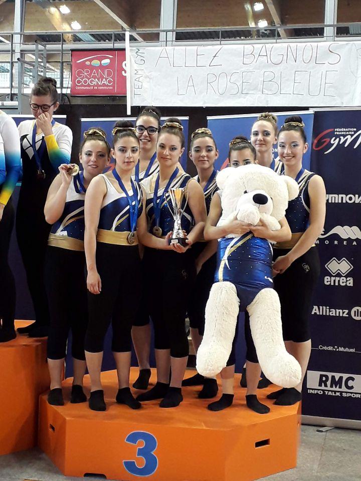 La Rose Bleue de Bagnols sur Cèze Team Découverte féminine 3ème