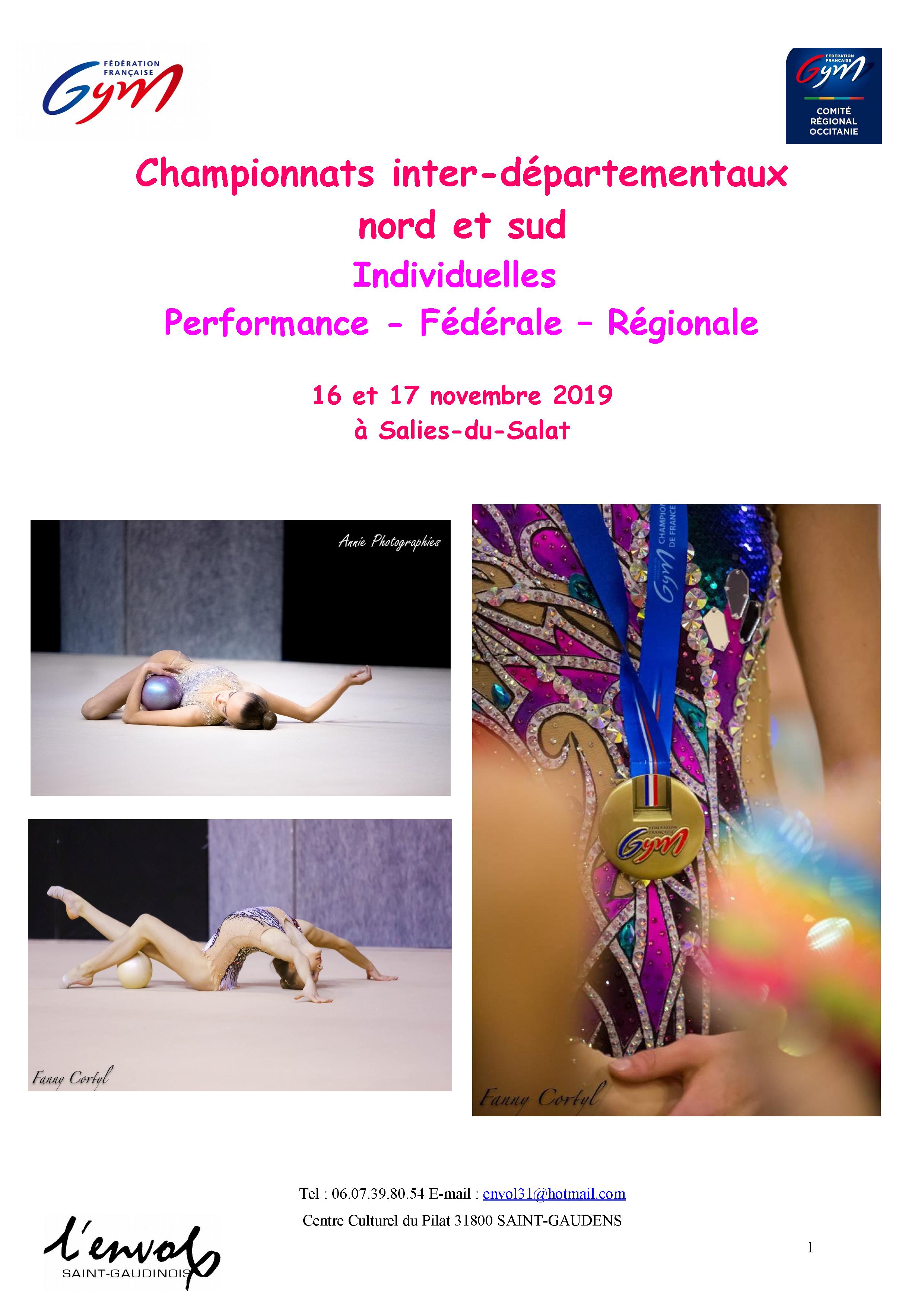 GR - Individuelles Performance Fédérale et Régionale Inter-Départemental NORD / SUD - SAINT GAUDENS
