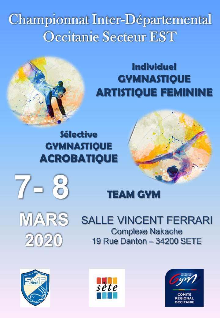 GAF/GAC/TG - Interdépartemental Sélective Régional 07 et 08 MARS 2020 à SETE