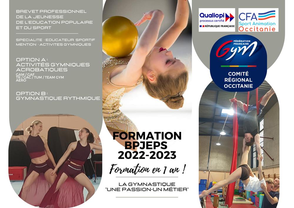 BPJEPS mention Éducateur   Sportif option A : Activités Gymniques Acrobatiques et Option B : Gymnastique Rythmique